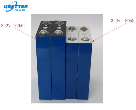 High Capacity Rechargeable LiFePO4 Battery Cell 3.2V 80ah for E-Vehicle Solar System