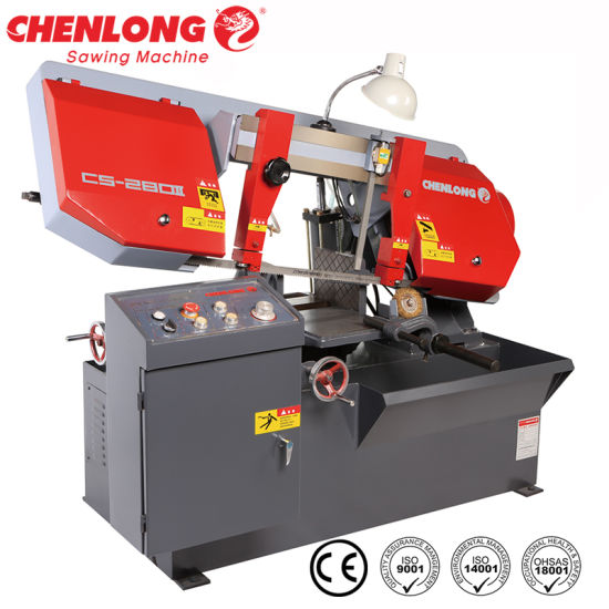 Chenlong 11 Inch Horizontal Pivot Bandsaw Machine for Metalworking (CS-280II)
