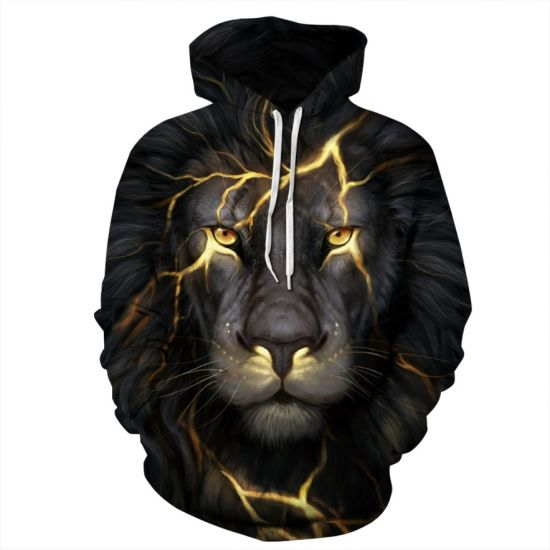 2021 High Quality Graphic Wholesale Fleece Sublimation 3D Printed Oversized Man Hoodie