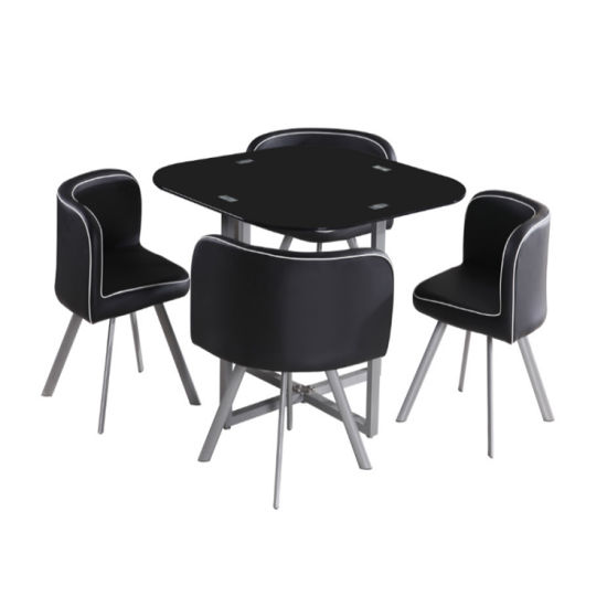 Modern Home Restaurant Glass Dining Tables and Chairs Dining Set