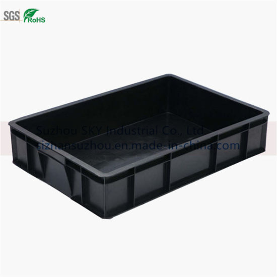 Conductive Bin Antistatic Storage Black Plastic Box for PCB Boards