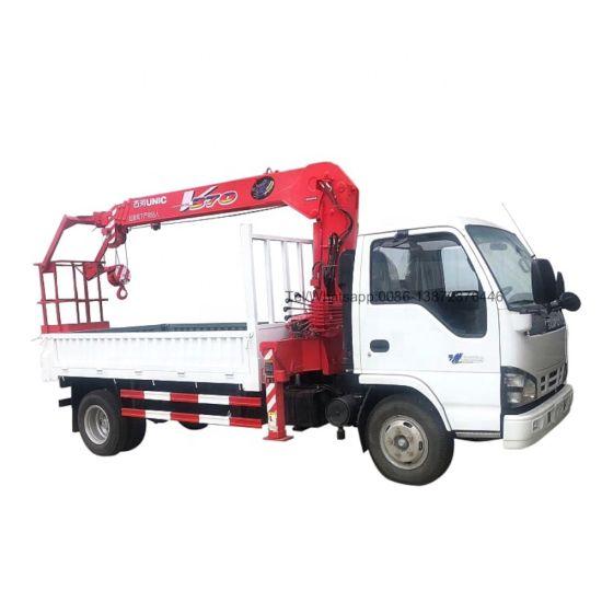 Isuzu 600p Truck Mounted 2tons 3tons Unic Crane
