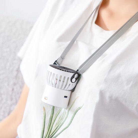 New Design Hanging Waist Neck Cooler USB Fan Mini Fan with Power Bank