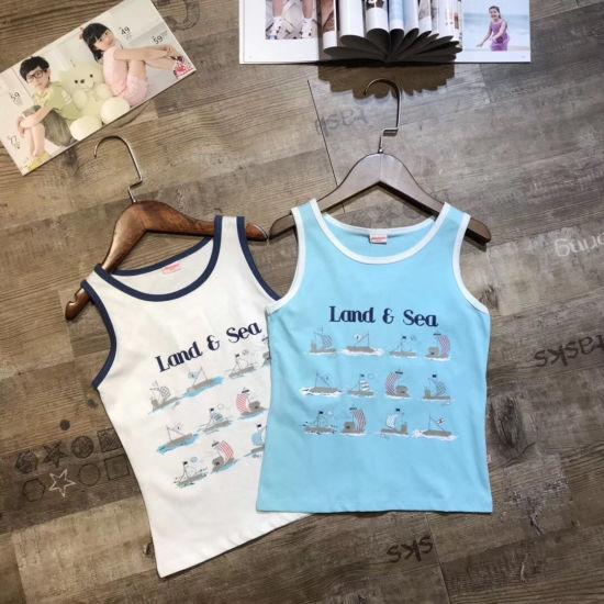 Wholesale Children Clothing Stock Appear Carton Pattern Boy Vest