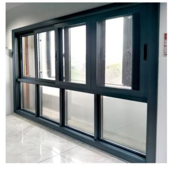 Casement Sliding Tinted Glass Window with Customized Design Double Tempered Glazing Customzied Color and Hung Sliding Fixed Types and Thermal Break Profile