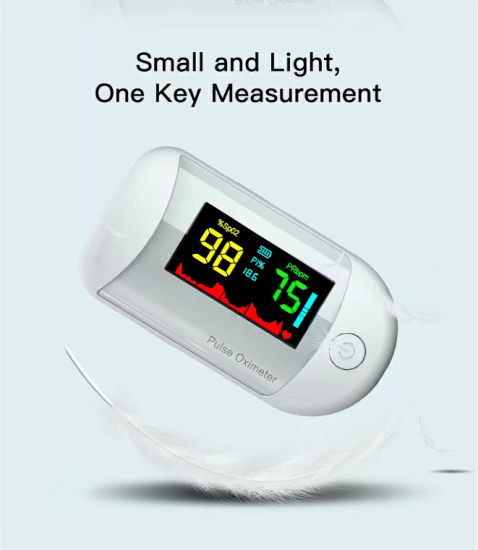 CE Certified Finger Oximeter with The Best Fingertip Pulse Oximeter Monitor with Two-Color LCD Screen