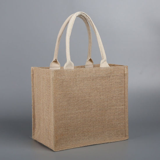 Customize Promotional Reusable Eco Friendly Shopping Jute Canvas Bag Tote