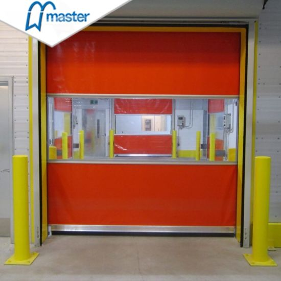 Automatic Industrial Fast Roll up PVC Fabric High Speed Rapid Door with Motor for Clean Room