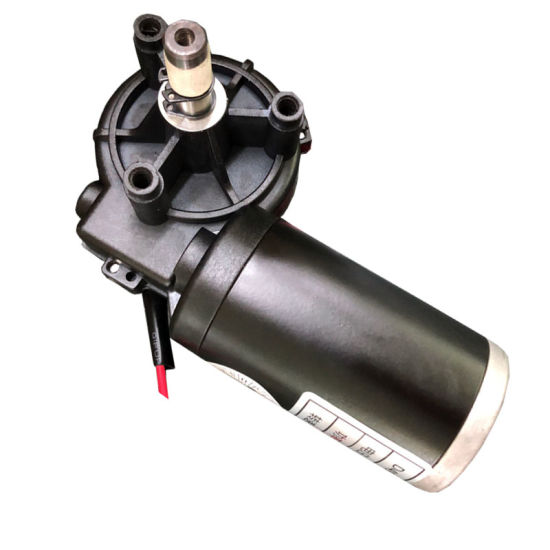 49mm Plastic Worm Gearbox Hollow Shaft 12V DC Gear Motor