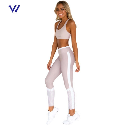 High Quality Custom Logo Women Gym Leggings Sport Wear Set Yoga Fitness Set Active Wear