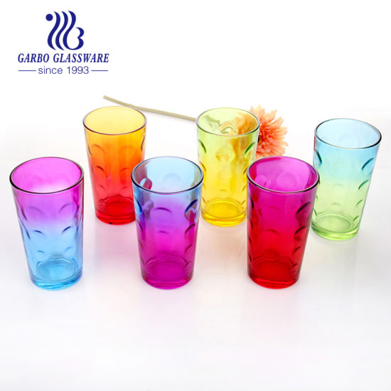 Wholesale Glass Tea Coffee Colored Tumbler pictures & photos