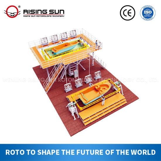 PE Plastic Rotational Kayak Canoe Boat Making Machine