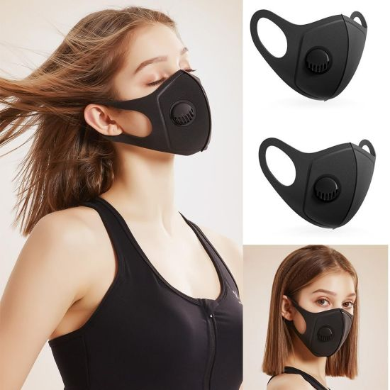 Waterproof Sponge Mask with Valve Washable Anti Dust Face Mask Dust Pm2.5 Air Pollution Filter Daily Protective Mask pictures & photos