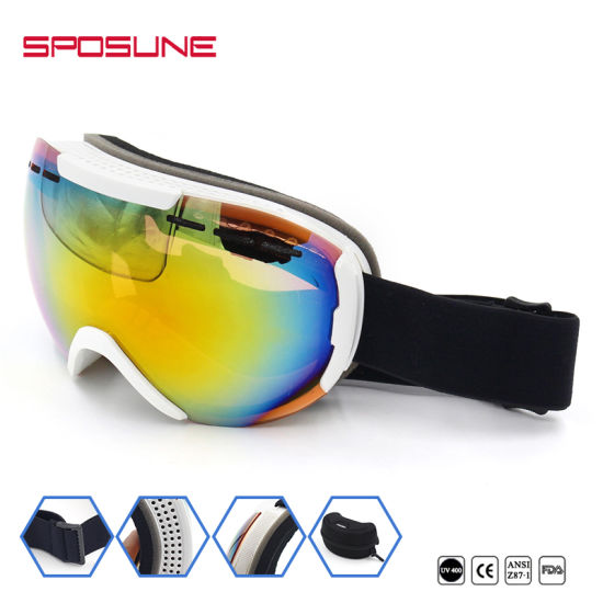 6d1d26f81f4d Custom Sport Equipment Promotion Anti Fog Snow Skateboard Goggles Bulk Buy  UV Protective Airsoft Skiing Safety Goggle