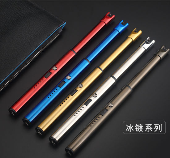 Long Neck Flameless Windproof USB Rechargeable Electric Arc Multipurpose Lighter