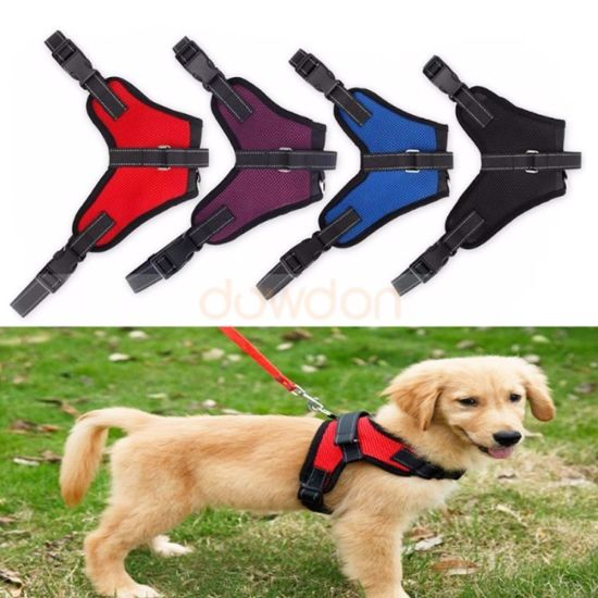 Saddle Durable Mesh Fabric Sport Pet Dog Harness for Dogs