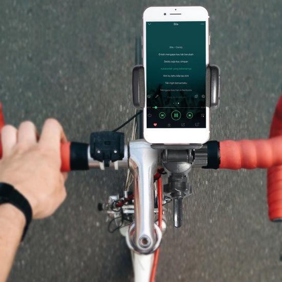 Universal Premium Bike Phone Mount for Motorcycle - Bike Handlebars, Adjustable, Fits iPhone X, iPhone 8 8 Plus