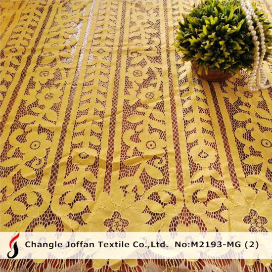 Embroidery Fabric African Lace Fabric Fashion Bridal Lace (M2193-MG)