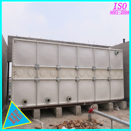 China 10000 Gallons Rectangle Assembled Large FRP GRP Water Storage