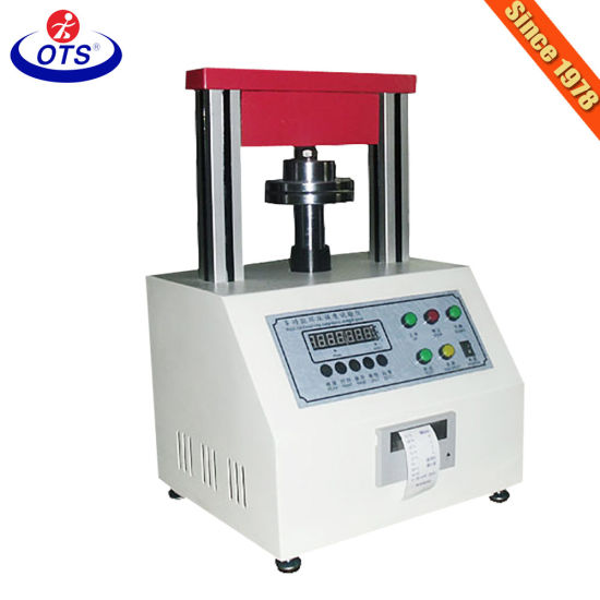 Lab Equipment Edge Ring Crush Compression Testing Machine