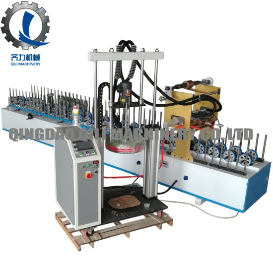 Aluminum Profile Wrapping Machine with Hotmelt Glue