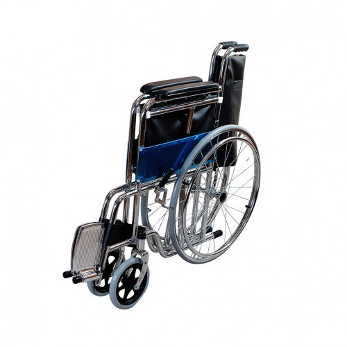 Top Sale Cheapest Hospital Medical Equipment Economic Manual Detachable Footrest Heavy Duty Steel Wheelchair for Adult