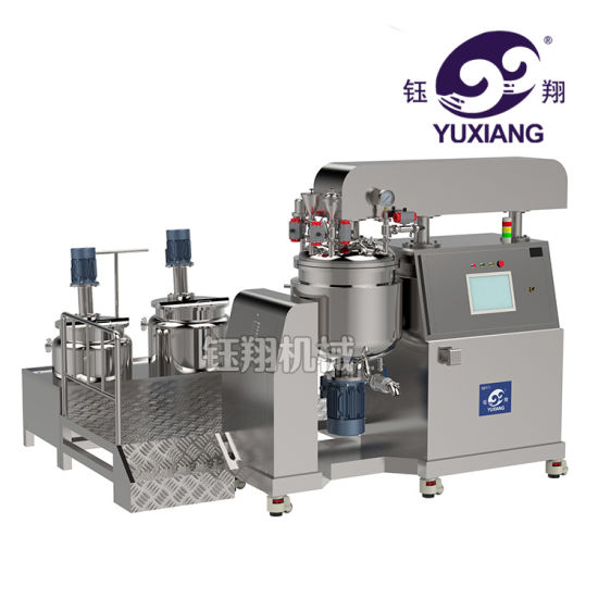 Yuxiang 100L Beautiful Price Industrial Vacuum Emulsifier Homogenizer Mixer  for Lotion and Cream