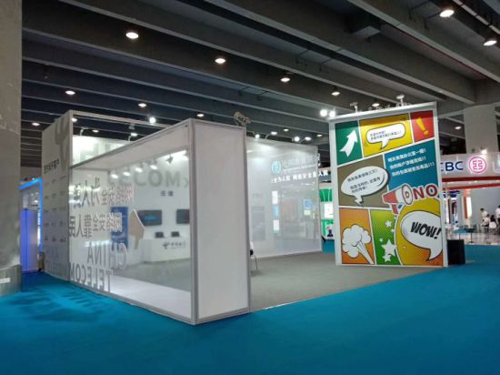 Exhibition Booth Fabrication : China telecom industry exhibition stand booth fabrication china