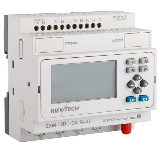 Factory Price Programmable Logic Controller GSM/SMS/GPRS PLC (Programmable Relay EXM-12DC-DA-R-4G)