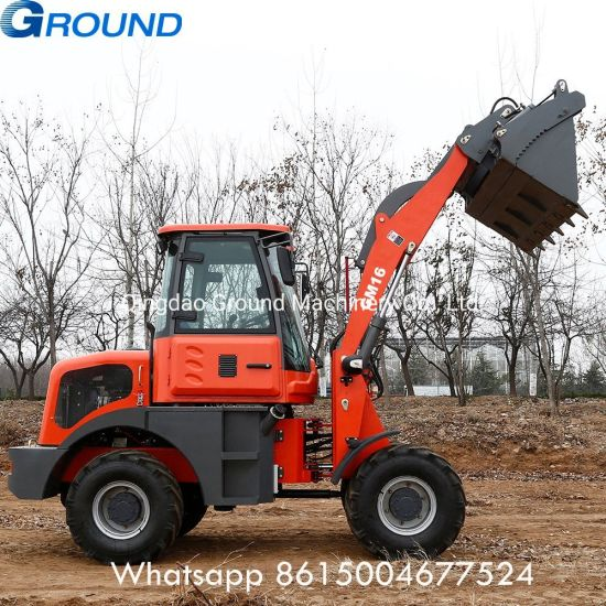 1.6ton wheel tractor loader construction equipment loader for earth moving with CE