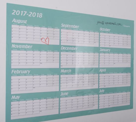 china yearly monthly wall planner calender china calendar dry