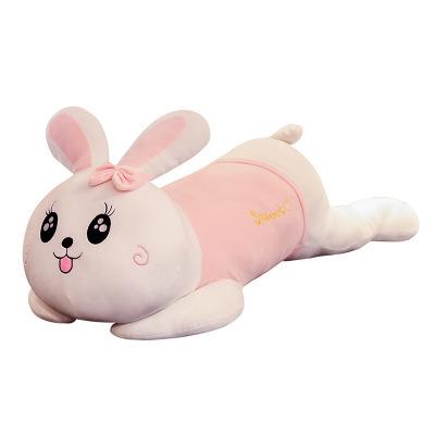 60cm Soft Stuffed Plush Baby Toy Cartoon Cute Big Rabbit Sleeping Cushion