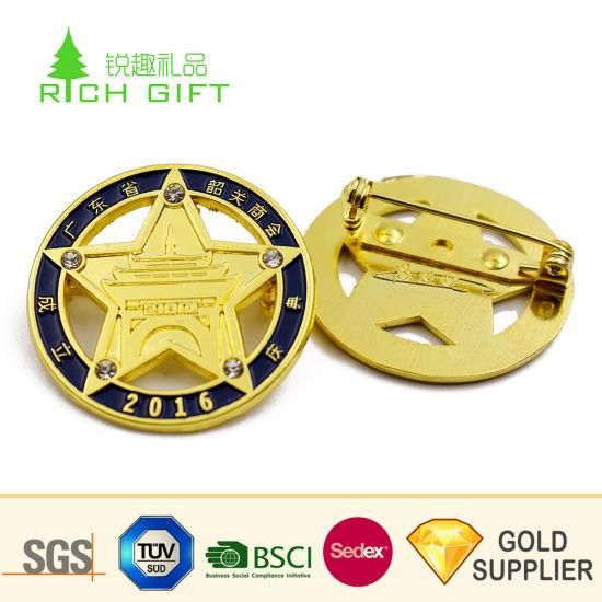 Wholesale China Custom Metal Brass Gold Plated Soft Enamel