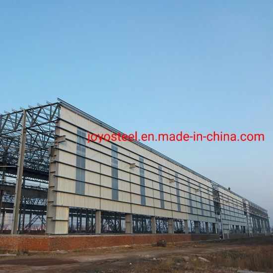 China Manufacturing Steel Structure Metallic Solid Large Span Warehouse