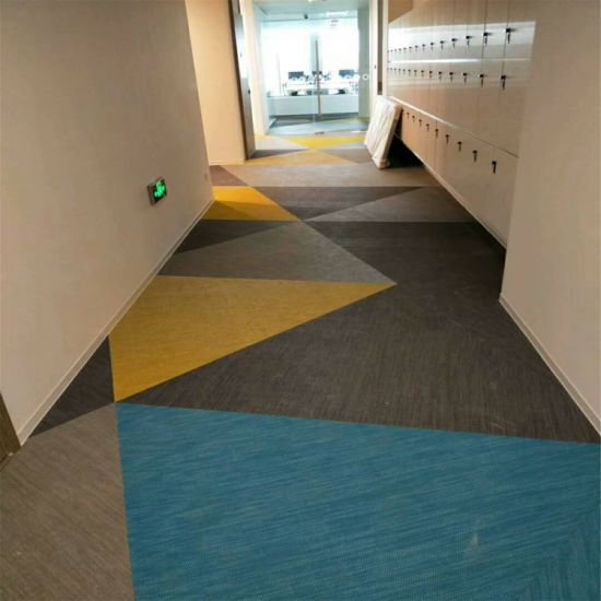 China Hot Sale Commercial Plastic Woven Vinyl Carpet Tiles Floor ...