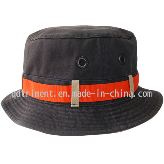 90b14174ca970 Contrast Webbing Washed Twill Leisure Golf Bucket Cap Hat (TRBT009)  pictures   photos