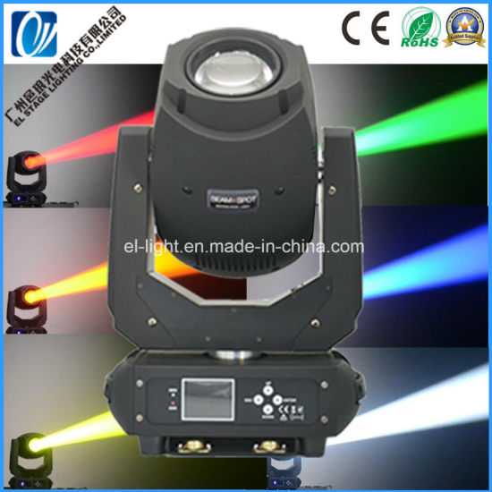 LED Moving Head Beam Spot Stage Lights for Disco with 200W LED Lamp