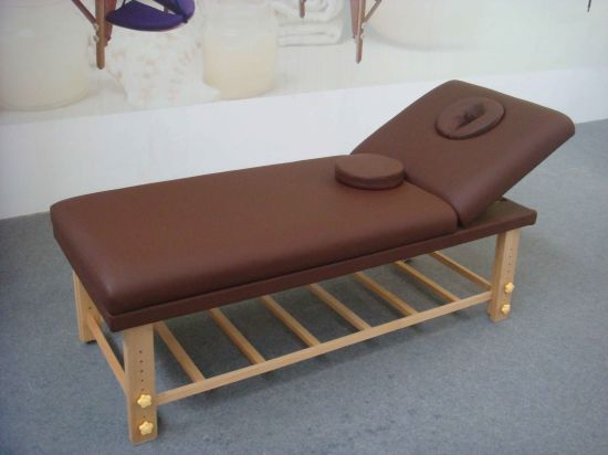 Deluxe Stationary Massage Bed with Backrest and Storage-Sm-002 pictures & photos
