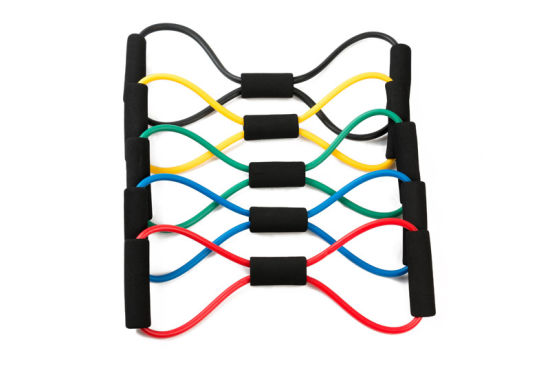 Dfapso Private Label Pull Rope Resistance Bands Tubes with Foam Handles
