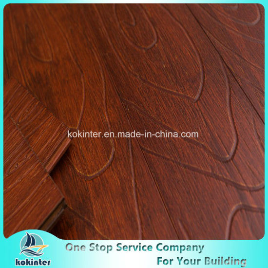 Gunstocks Relief Strand Woven Heavy Bamboo Flooring Indoor-Click System