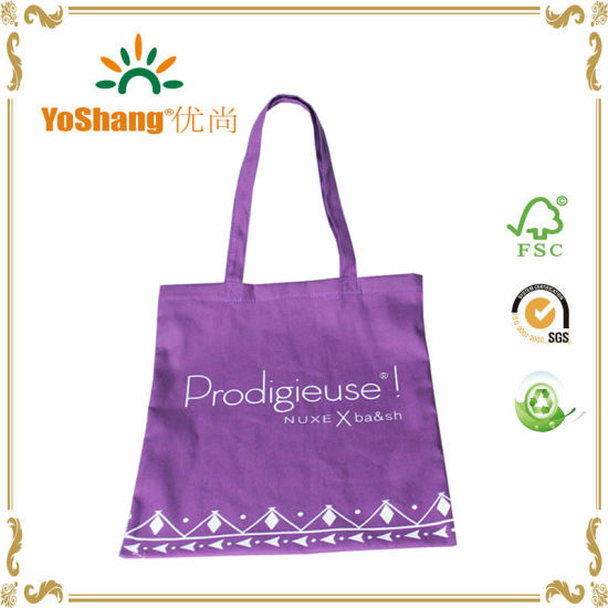2017 Quality Promotional Purple Canvas Bags Tote Bulk