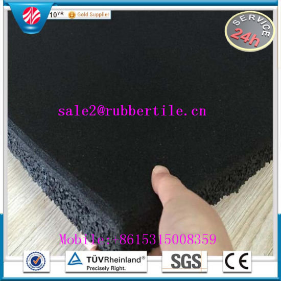 Eco-Friendly Recycled Granules Gym Rubber Flooring, Rubber Floor Tile pictures & photos