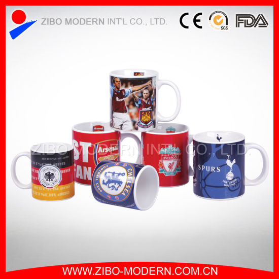 11oz Standard Coffee Ceramic Mug With Football Club Design