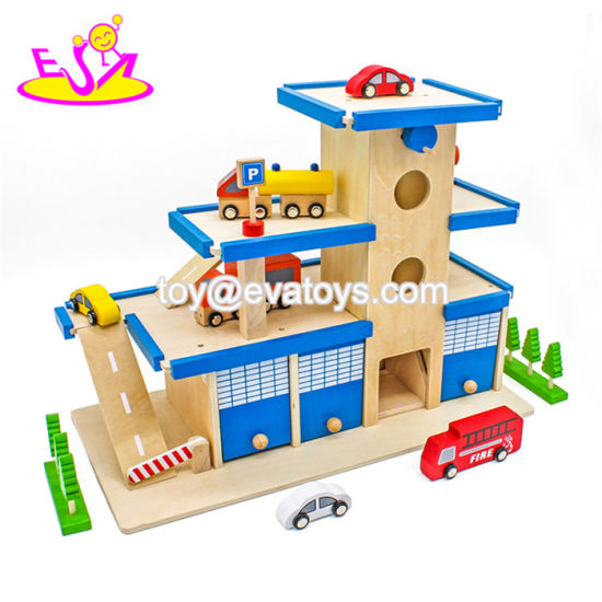 China Best Sale Wooden Boys Car Garage For Sale W04b032 China Boys