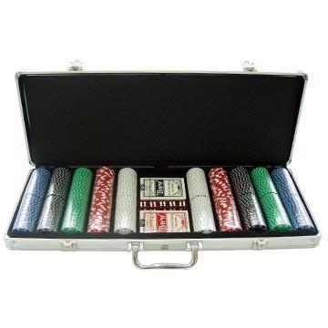 1000 Chip Aluminum Poker Trolley Case W/Wheels - New!