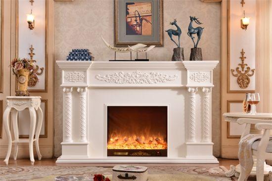 European Sculpture Led Lights Heating Electric Fireplace Freestanding Mantel 320b