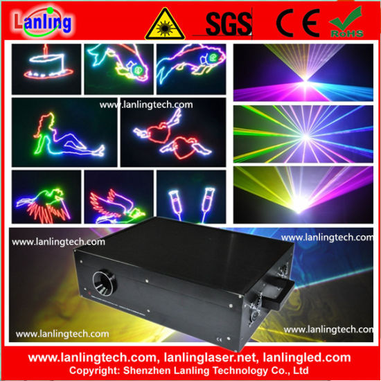 4W RGB Animation Laser Show with Logo Text