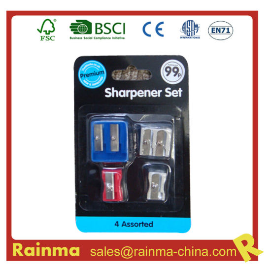 School and Office Stationery with Sharpener