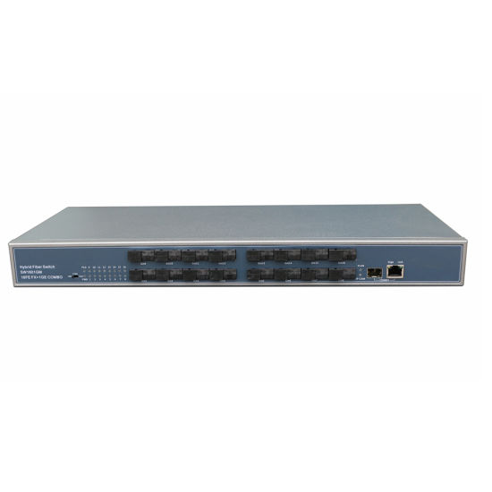 16fe Fx+1ge Combo Fiber Switch 10g Bandwidth; Built-in Dual Power Supply pictures & photos