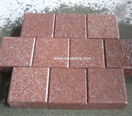 Red Porphyry Flamed Paving Stone for Exterior pictures & photos